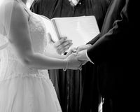 Votos de casamento fotografia de stock royalty free