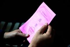 Votos del congreso de gente china Fotos de archivo libres de regalías
