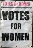 Votos para el cartel de las mujeres Fotos de archivo