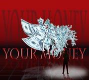 Votre argent Photo stock
