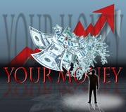 Votre argent Photographie stock