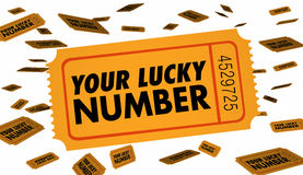 Votre billet de Lucky Number Winning Contest Raffle Photographie stock libre de droits