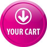 Votre bouton de Web de chariot illustration libre de droits