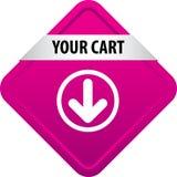 Votre bouton de Web de chariot illustration de vecteur