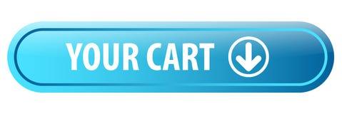 Votre bouton de Web de chariot illustration stock