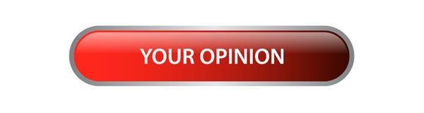 Votre bouton de Web d'opinion Photo libre de droits