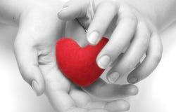 Votre coeur dans des mes mains ! (BW) Image stock