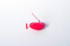 Votre coeur et injections Images libres de droits
