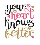Votre coeur sait mieux Dirigez l'illustration typographique dans des couleurs noires, roses, d'or avec le lettrage de main et le  illustration de vecteur