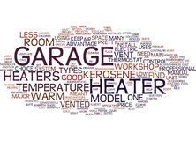 Votre concept de Heater Text Background Word Cloud de garage d'atelier Images libres de droits
