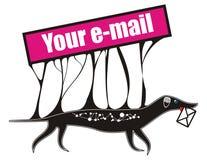 Votre email Photographie stock