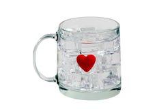 Votre glace a gelé mon coeur Images stock