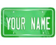 Votre insigne personnalisé de vanité de plaque minéralogique de nom illustration libre de droits