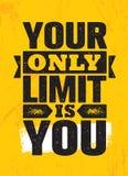 Votre seulement limite est vous Calibre créatif de inspiration d'affiche de citation de motivation Concept de construction de ban Photo libre de droits
