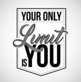 votre seulement limite est vous timbre de joint de typographie, desig d'illustration illustration stock