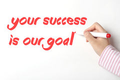 Votre succès est notre but Photographie stock libre de droits