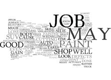 Votre Suv votre nouveau concept de Job Text Background Word Cloud de peinture Image stock