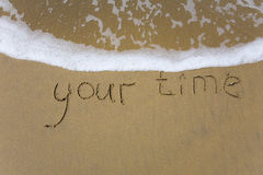 Votre temps Images libres de droits