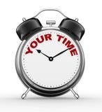 Votre temps illustration stock