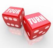 Votre tour exprime la prochaine étape rouge de concurrence de jeu de deux matrices illustration libre de droits