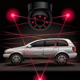 Degré de sécurité de voiture Image libre de droits