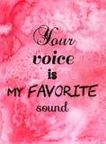 Votre voix est mon bruit préféré Citation inspirée illustration libre de droits