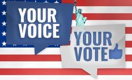 Votre voix votre vote illustration de vecteur