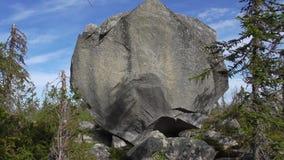 Vottovaara Karelia - duży kamienny sade obrazy royalty free