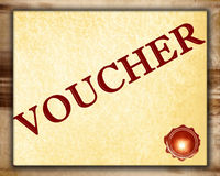 Voucher Stock Image