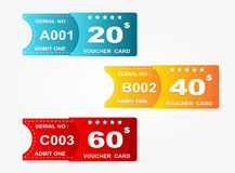 Voucher card. Superb set of voucher card offer Royalty Free Stock Images