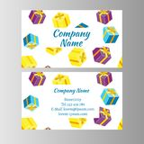 Voucher Card Gift Box royalty free illustration