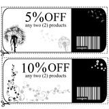 Voucher cards Royalty Free Stock Photos