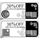 Voucher cards for shops Royalty Free Stock Photography
