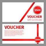 Voucher certificate blank template stock illustration