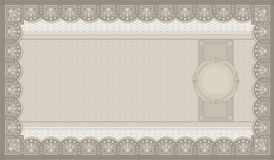 Voucher coupon paper. Blank template money Royalty Free Stock Photo