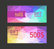Voucher design template.  Royalty Free Stock Photography
