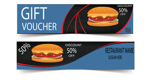 Voucher For Food Outlets design Vector Stock Photography