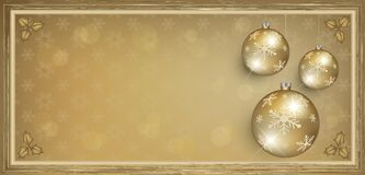 Voucher gift card gold Merry Christmas Stock Photo