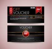 Voucher Gift Card layout template for your promotional design Royalty Free Stock Image