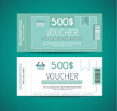 Voucher Gift Card layout template for your promotional design Stock Photography