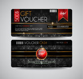 Voucher Gift Card layout template for your promotional design Royalty Free Stock Photo