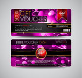 Voucher Gift Card layout template for your promotional design, Royalty Free Stock Photo