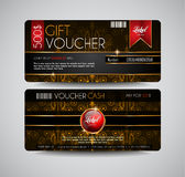 Voucher Gift Card layout template for your promotional design, Royalty Free Stock Photos