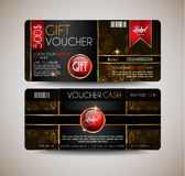 Voucher Gift Card layout template for your promotional design, Royalty Free Stock Image