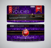 Voucher Gift Card layout template for your promotional design, Royalty Free Stock Images