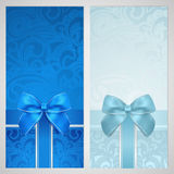 Voucher, Gift Certificate, Coupon. Boxes, Bow Stock Images
