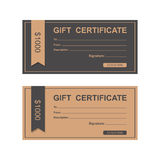 Voucher, Gift certificate, Coupon . Royalty Free Stock Image
