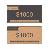Voucher, Gift certificate, Coupon . Stock Photos
