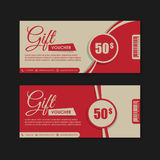 Voucher, Gift certificate, Coupon . Royalty Free Stock Photos