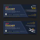 Voucher Gift certificate Coupon template. Stock Images